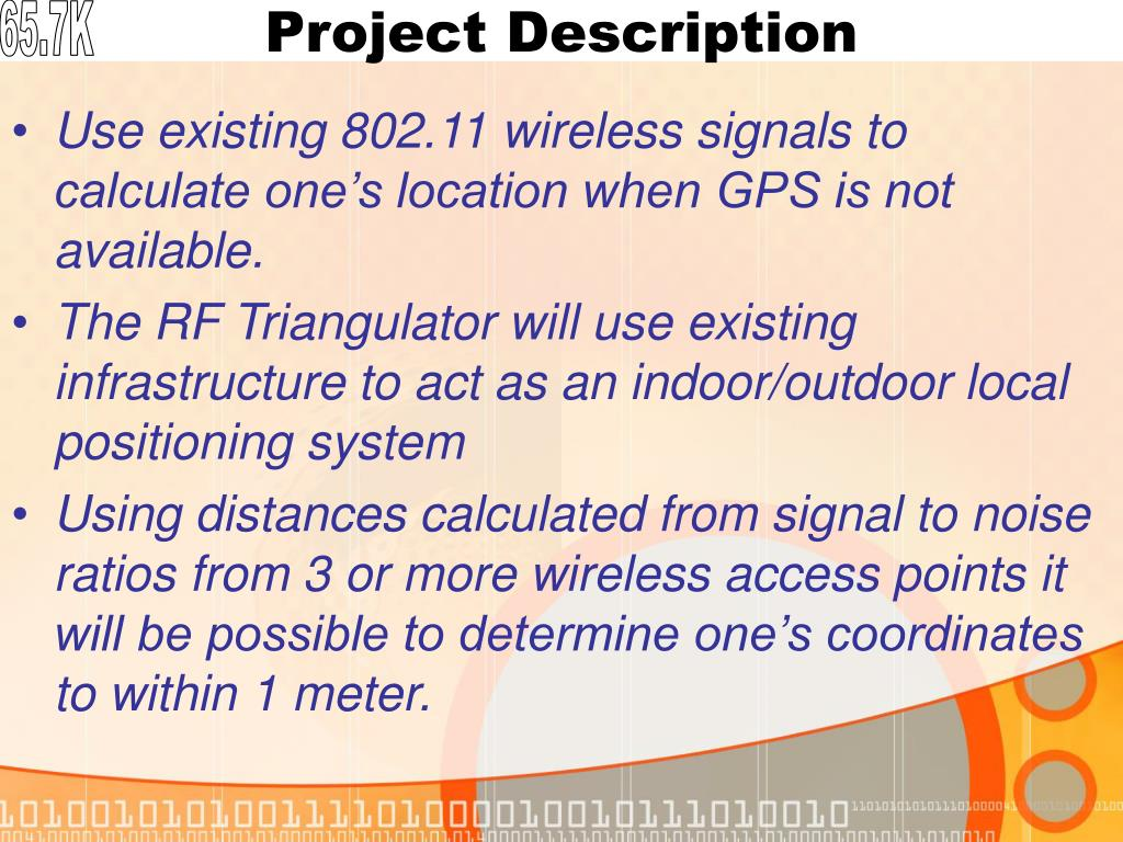 PPT - Overall Project Objective: Design a Radio-Frequency indoor