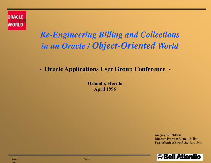 Re-Engineering Billing and Collections