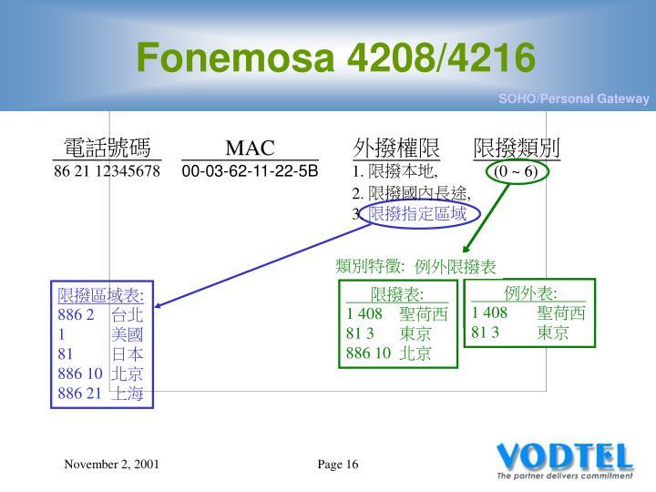 Fonemosa 4208/4216