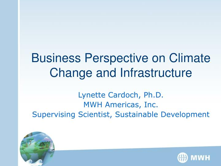 business perspective on climate change and infrastructure n.
