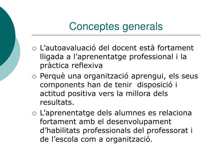 Conceptes generals