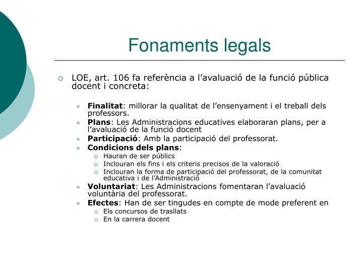Fonaments legals