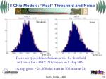 8 chip module real threshold and noise