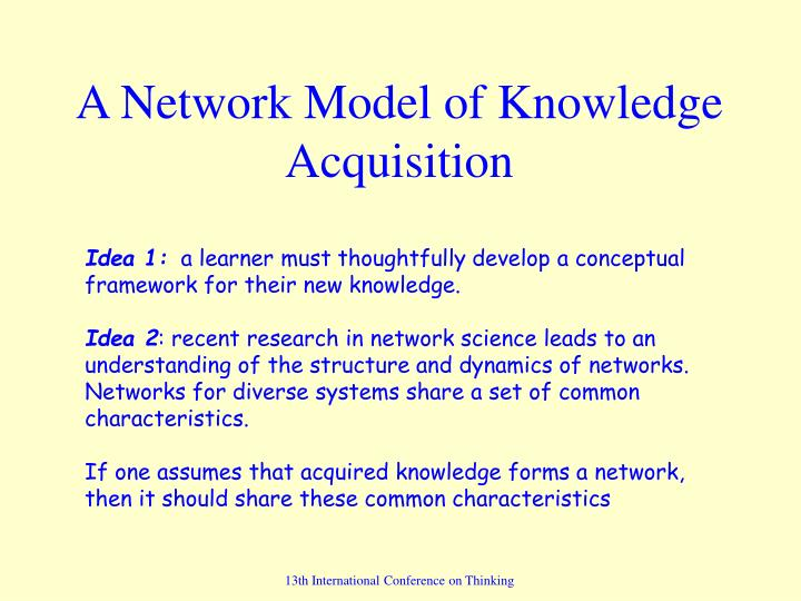 understanding learning and acquisition of knowledge essay Knowledge, ultimately, is an understanding of the cause and effect relationships that govern our lives, the nature and role of each entity in relation to all.