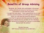 benefits of group advising1