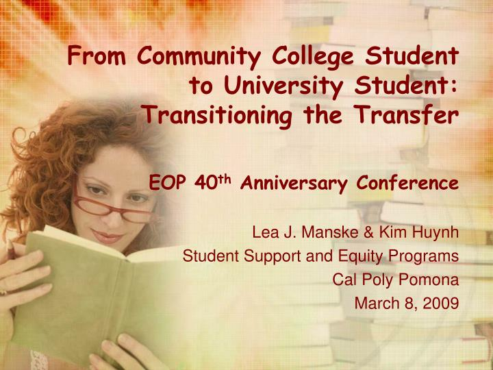 from community college student to university student transitioning the transfer n.