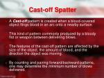 cast off spatter