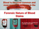 forensic nature of blood stains