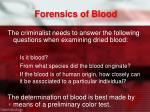 forensics of blood