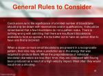 general rules to consider1