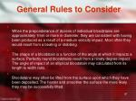 general rules to consider2