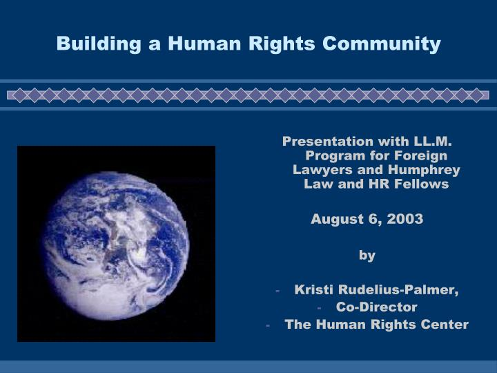 Building a human rights community