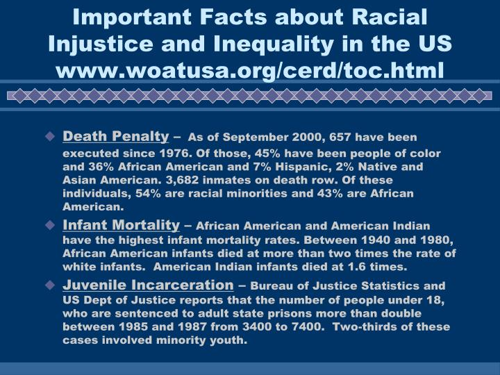 Important Facts about Racial Injustice and Inequality in the US
