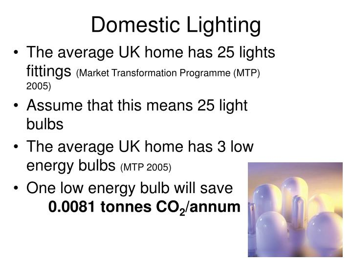 Domestic Lighting