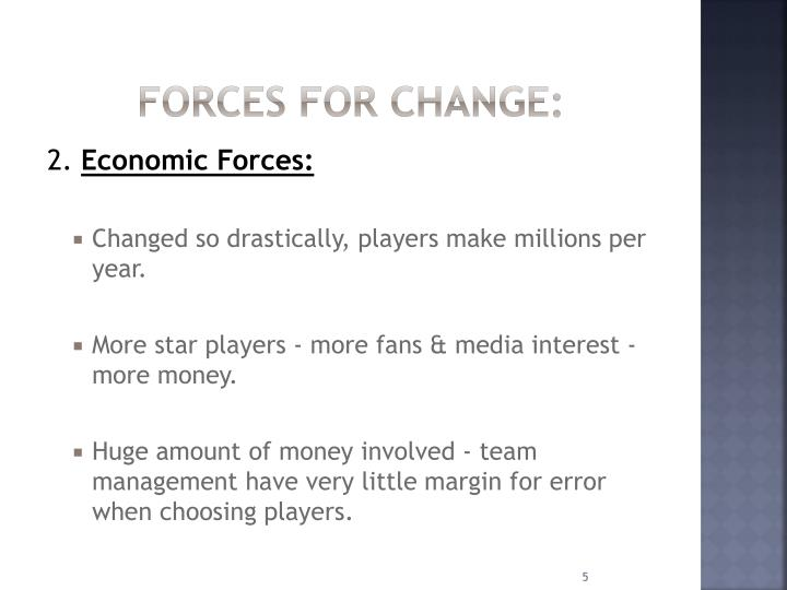 Forces for change: