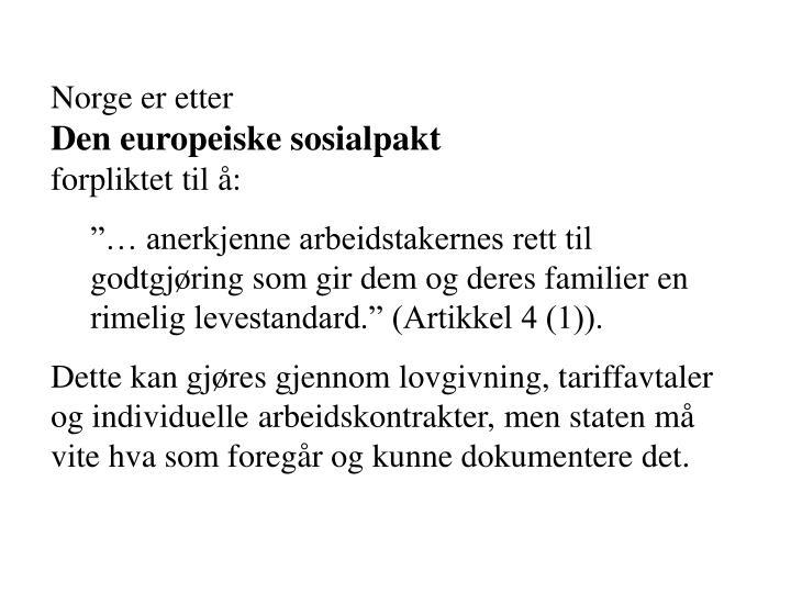 Norge er etter