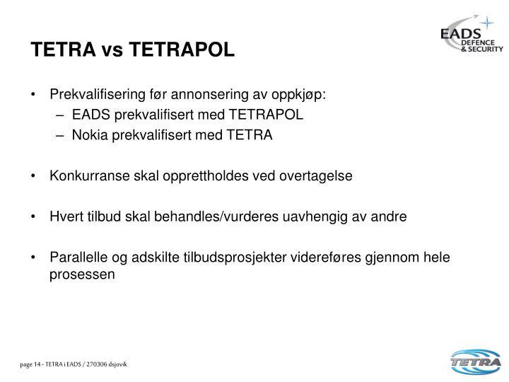 TETRA vs TETRAPOL