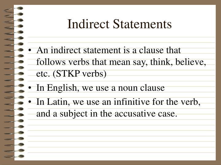 Indirect statements1