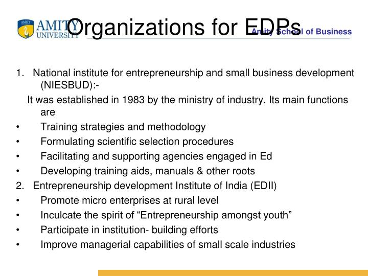 Organizations for EDPs