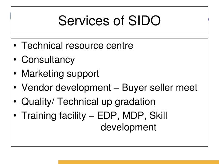 Services of SIDO