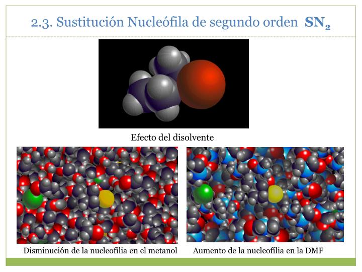 2.3. Sustitución Nucleófila de segundo orden