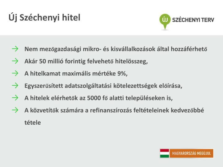 Új Széchenyi hitel