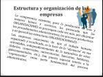 estructura y organizaci n de las empresas