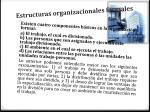 estructuras organizacionales formales