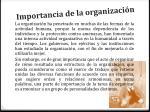 importancia de la organizaci n
