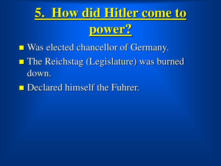 how did hitler come to power essay Custom written essay example on adolf hitler and the nazi rise to power.
