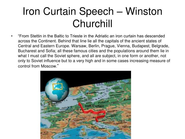 Iron curtain speech winston churchill