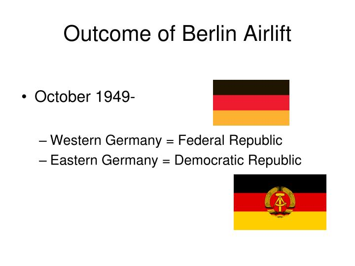 Outcome of Berlin Airlift