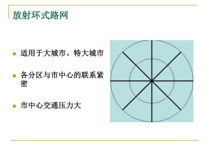 放射环式路网