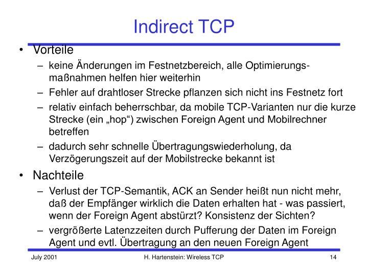 Indirect TCP