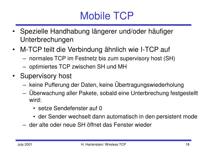 Mobile TCP