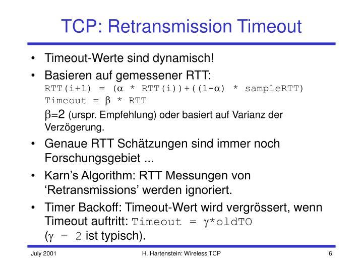TCP: Retransmission Timeout