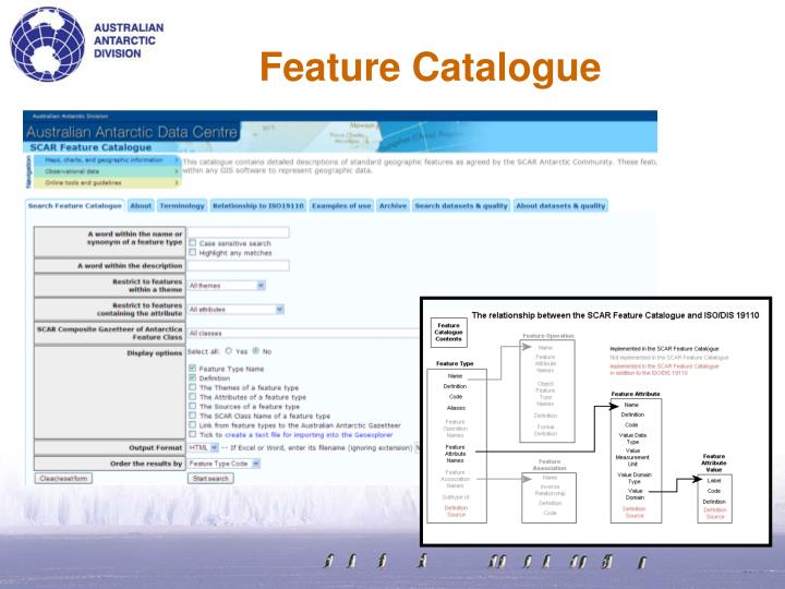 Feature Catalogue