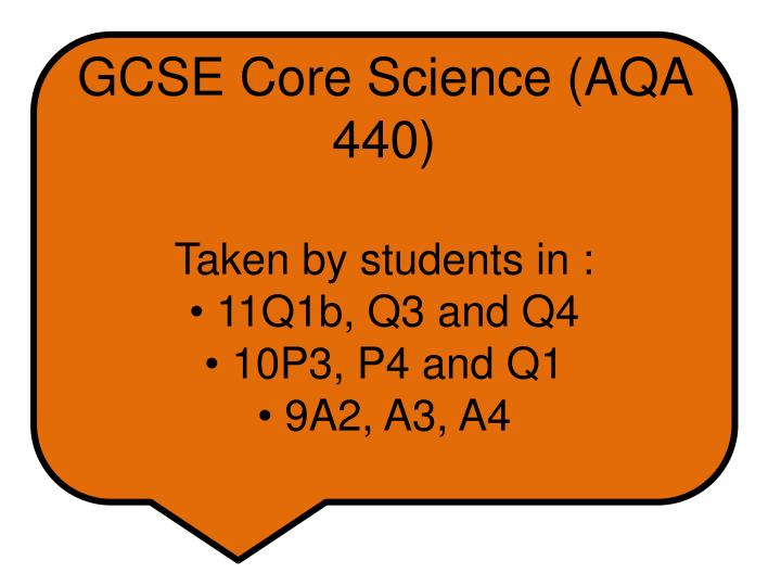 GCSE Core Science (AQA 440)
