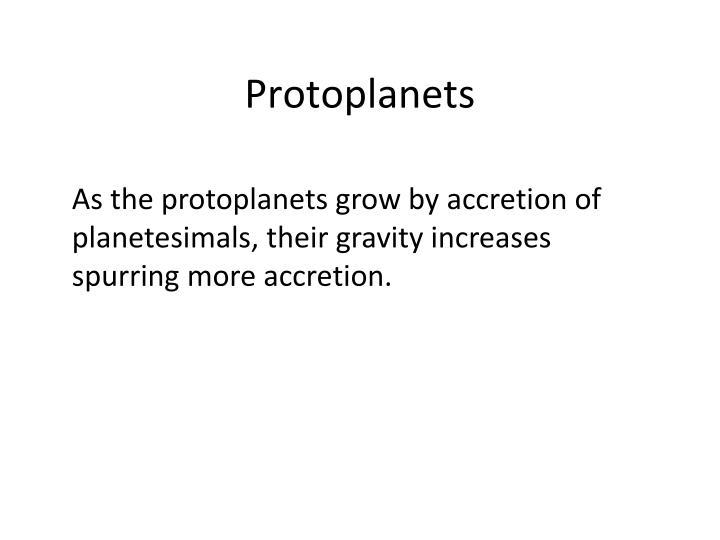 Protoplanets