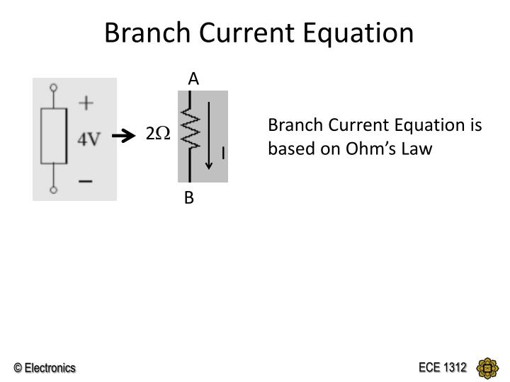 Branch Current Equation