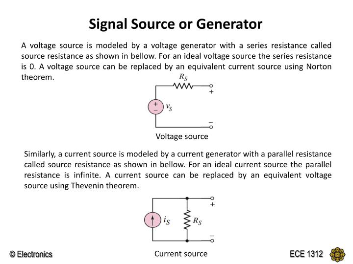 Signal Source or Generator