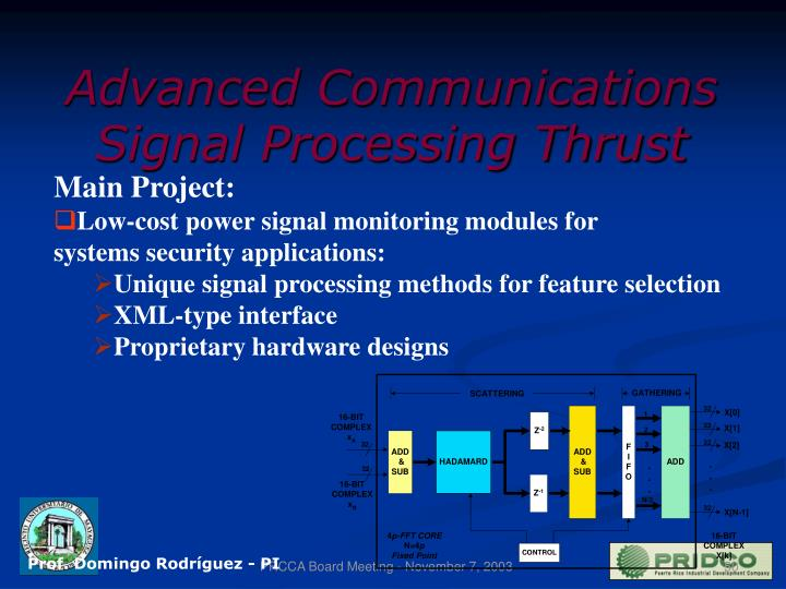 Advanced Communications Signal Processing Thrust