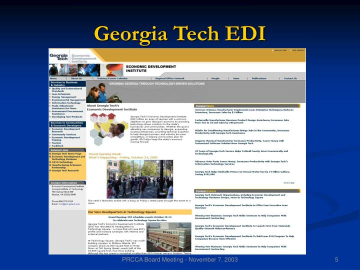 Georgia Tech EDI