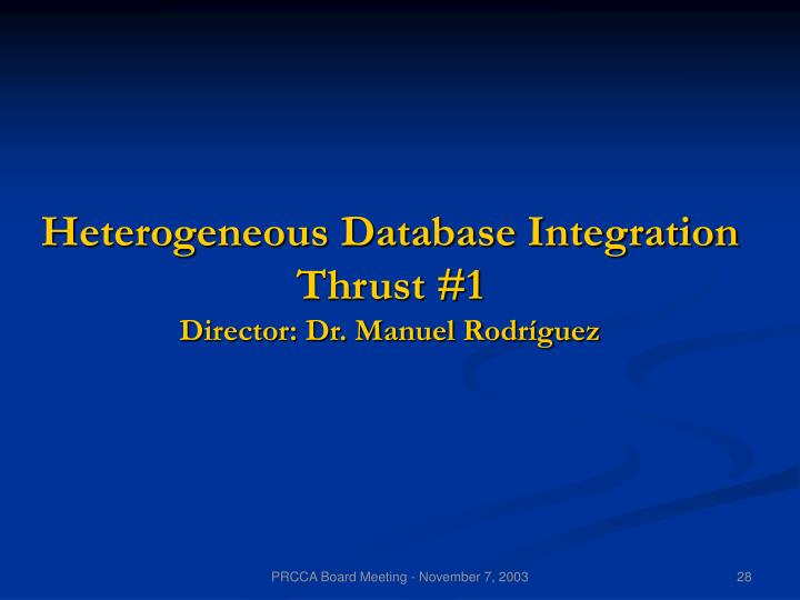 Heterogeneous Database Integration