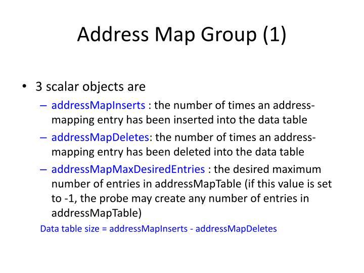 Address Map Group (1)