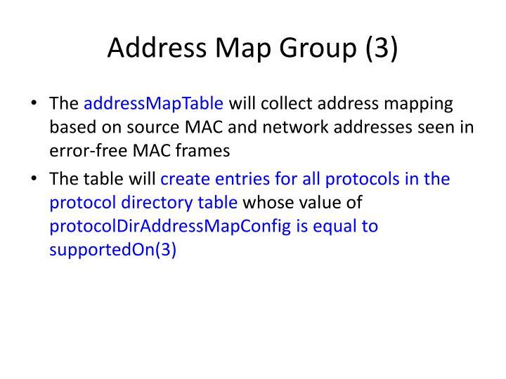 Address Map Group (3)
