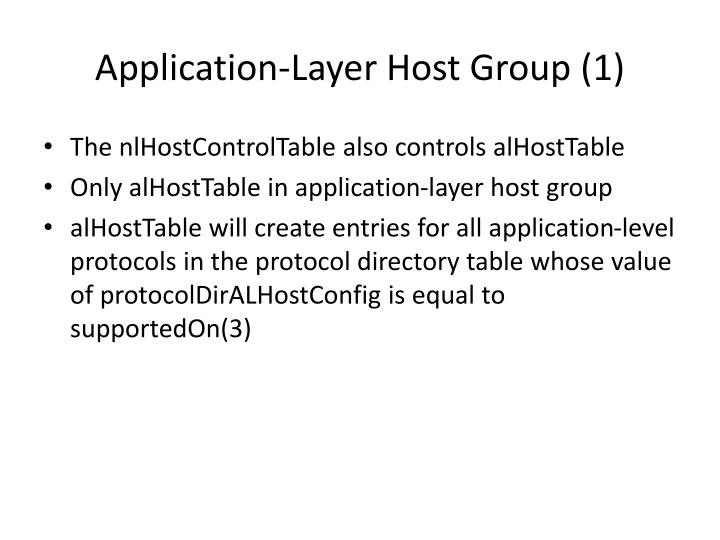 Application-Layer Host Group (1)