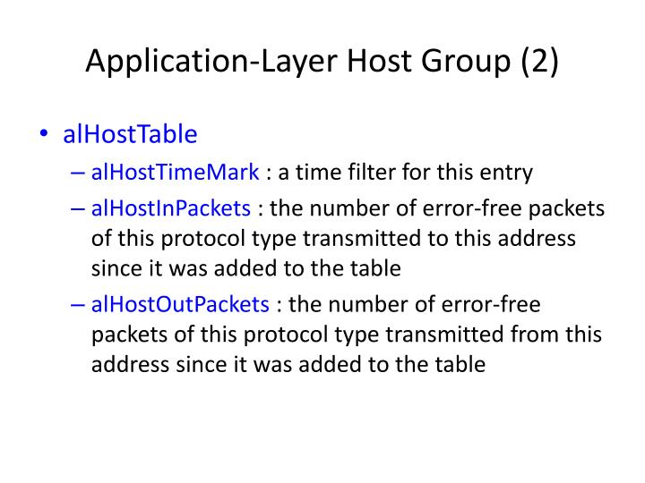 Application-Layer Host Group (2)