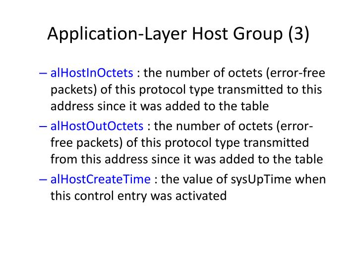 Application-Layer Host Group (3)