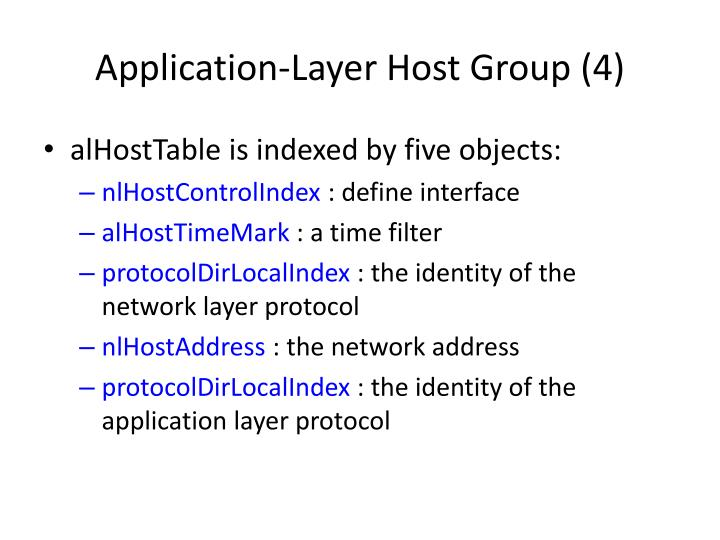 Application-Layer Host Group (4)